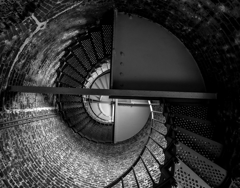 Cape Blanco Lighthouse Spiral Staircase - Oregon