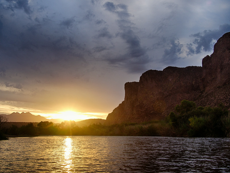Sunrise on the Lower Salt River<br /> Tonto National Forest