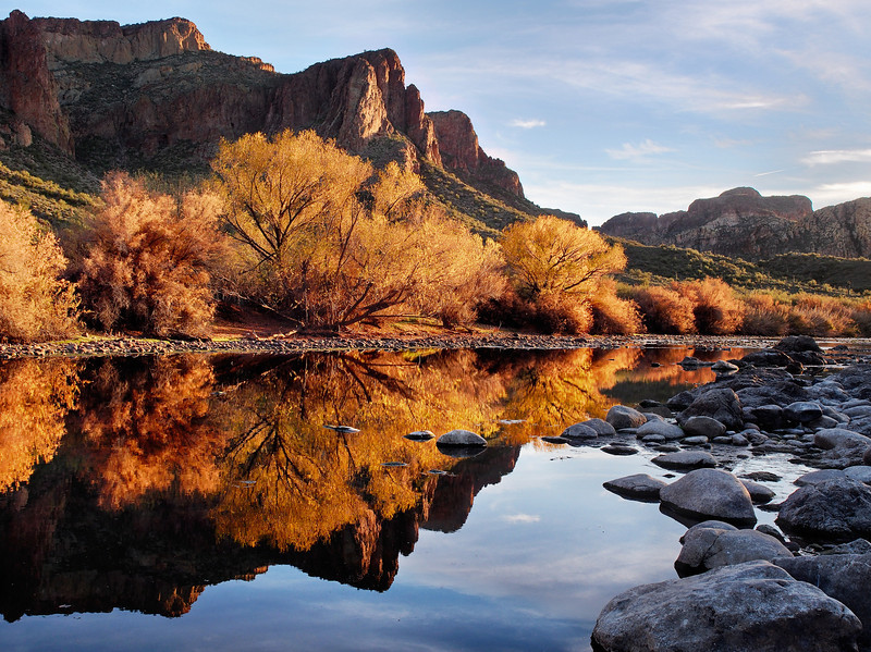 Mirrored Mountains<br /> Salt River