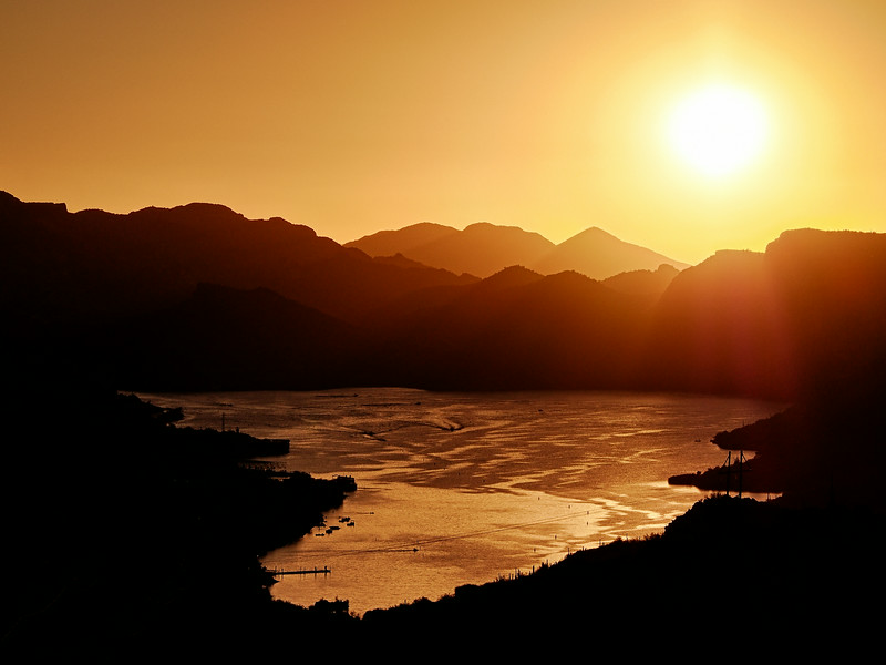 Sunset over Canyon Lake<br /> Tonto National Forest