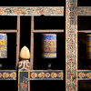 TRONGSA DZONG. PRAYER WHEELS.