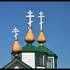 Crosses on Russian Orthodox Church