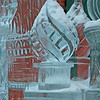 Ice statute of church at Cathedral St. Vasily the Blessed (Saint Basil's) on very cold winter'sday in Moscow Russia
