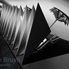 Marksistskaya metro station Moscow Russia with arrow pointed shaped steel lamps