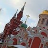 Orthodox church Kazan Cathedral on Red Square with historical museum in Moscow Russia