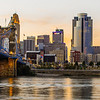 Cincinnati at Sunset from the River
