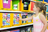 Shyanne Shrader finds a folder to her liking as she shops for the beginning of preschool.