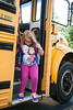 Like astronauts landing on the moon, Grant Line Elementary students step off the bus with varying degrees of enthusiasm and anxiety.