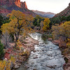 Watchman Sunset In Fall - Zion National Park