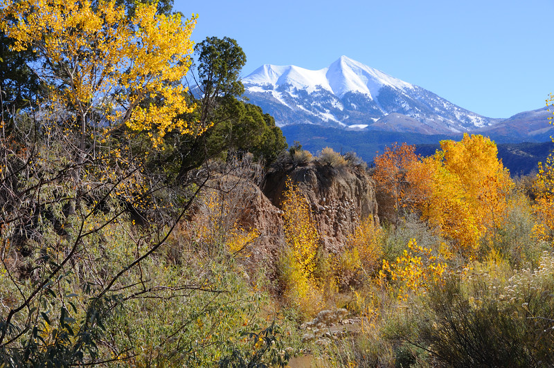 La Sal Mountains in Fall