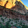 Sunrise over Stone Cabin Zion National Park
