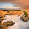 <h2>Shark Finery</h2>Shark Fin Cove, Santa Cruz, California  The Fin, in all its sunset finery!