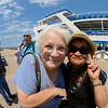 Cool Photo Op on the Goodtime III with Sharon and Doris