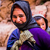 Berber woman and children at the Todra Gorge, Morocco