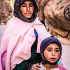 Berber woman and daughter in Todra Gorge, Morocco