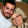 Chris and his Grandma on his 30th Birthday