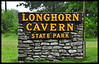 28 MAR 2012 - Longhorn Cavern State Park Sign, Longhorn Cavern State Park, north of Marble Falls, Texas