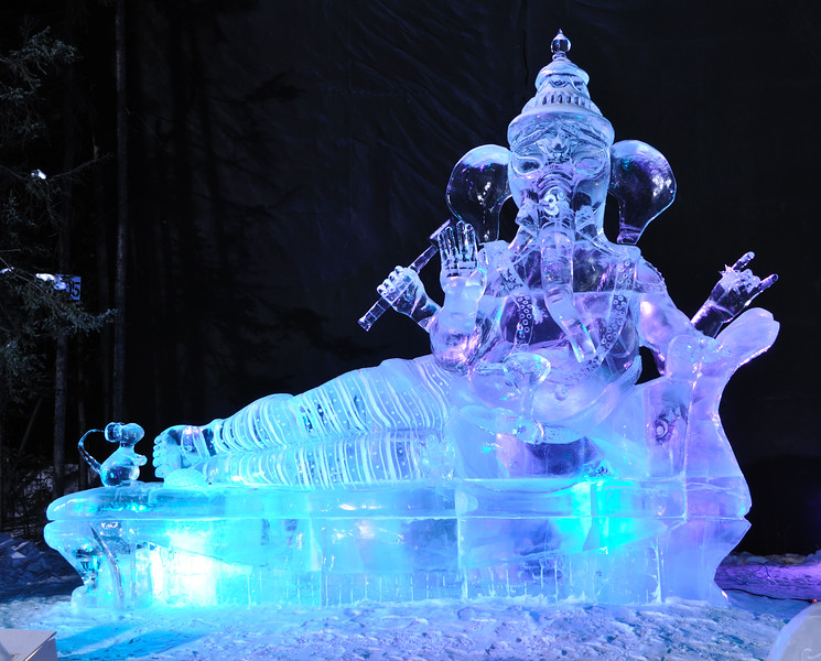 """FAIRBANKS, AK - MARCH 9: """"There's No Place Like Om"""" Ice Sculpture, 2010 World Ice Art Championships March 9, 2010 in Fairbanks, Alaska"""