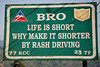 #404 Sign from the Border Roads Organization (BRO), Arunachal Pradesh state, Northeast India