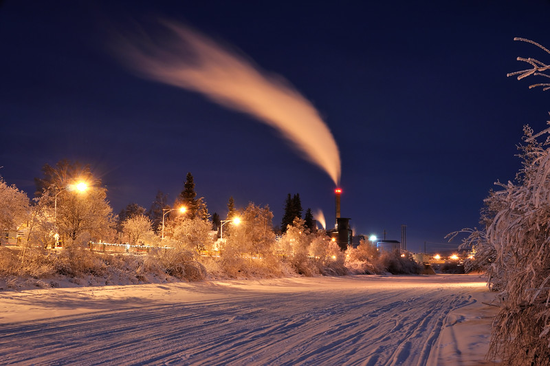 Arctic Power in Winter at Night