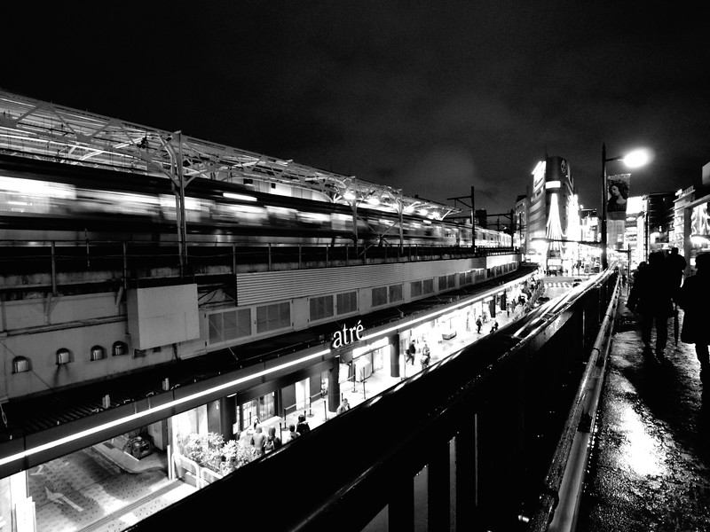 Ueno Station at Night - Tokyo, Japan