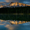Mt Rundle from Johnson Lake, Banff National Park, Banff, Alberta