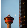 Calgary Tower and Moon