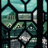 View through the old windows of Little Moreton Hall