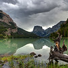 Squaretop Mountain Reflected in Upper Green River Lake during Thunderstorm