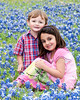Jadyn and Travis in the Bluebonnets 4-17-2014
