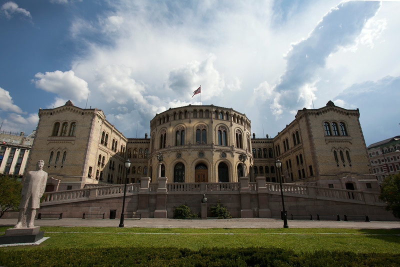 OSLO. THE STORTING. NORWEGIAN PARLIAMENT BUILDING.
