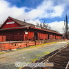 The historic train depot at Jamestown, CA.