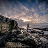 """""""Waiting""""<br /> <br /> Waiting and watching the sun drift down in La Jolla, California."""