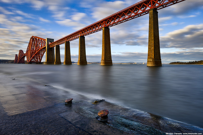 At the Forth rail bridge