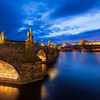 Blue hour by the Charles Bridge