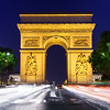 Evening at the Arc de Triomphe