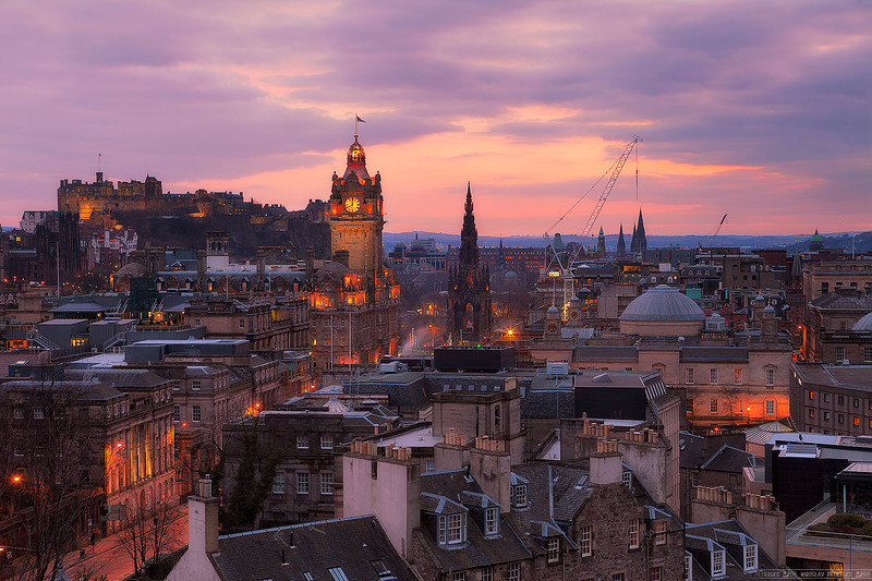 Sunset above Edinburgh