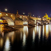 <h2>Late night at the Charles Bridge</h2> Somehow I always get to this bridge late at night. Will have to go there once during the sunset :)