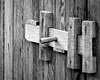 Outhouse Lock in Black and White