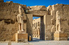 The restored ruins of the Temple of Karnak complex in Thebes, modern day Luxor.
