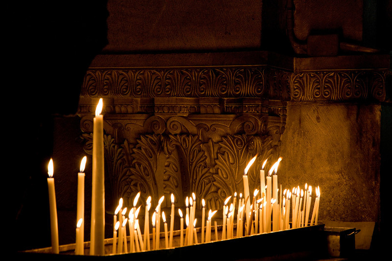 Prayer Candles - Church of the Holy Sepulcher, Jerusalem