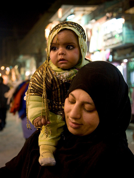 Muslim woman and baby - Cairo, Egypt