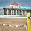 Manhattan Beach Pier and Volleyball Net