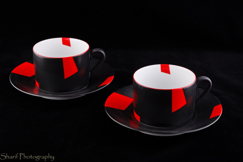 Two modern tea cups