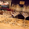 Wine glasses are clean and polished at our local wine bar Cava in Capitola.