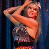 A belly dancer performs at the monthly Santa Cruz Raks show.