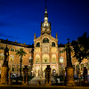 BARCELONA. CATALONIA. HOSPITAL SANT PAU BY NIGHT.