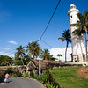 GALLE FORT. DUTCH FORTRESS IN GALLE. LIGHTHOUSE AND POINT UTRECHT BASTION SOUTH SRI LANKA.