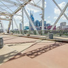Pedestrian bridge in downtown of Nashville, Tennessee