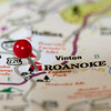 roanoke virginia city pin othe map